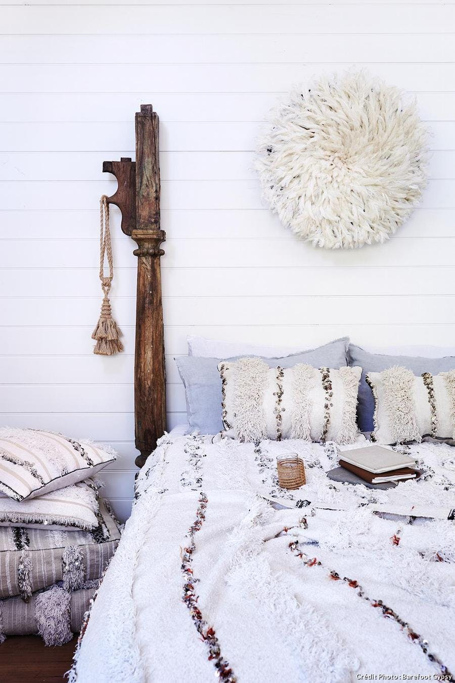 Chambre cocooning au style ethnique