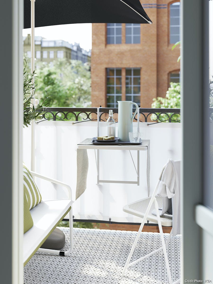 table rabattable balcon ikea