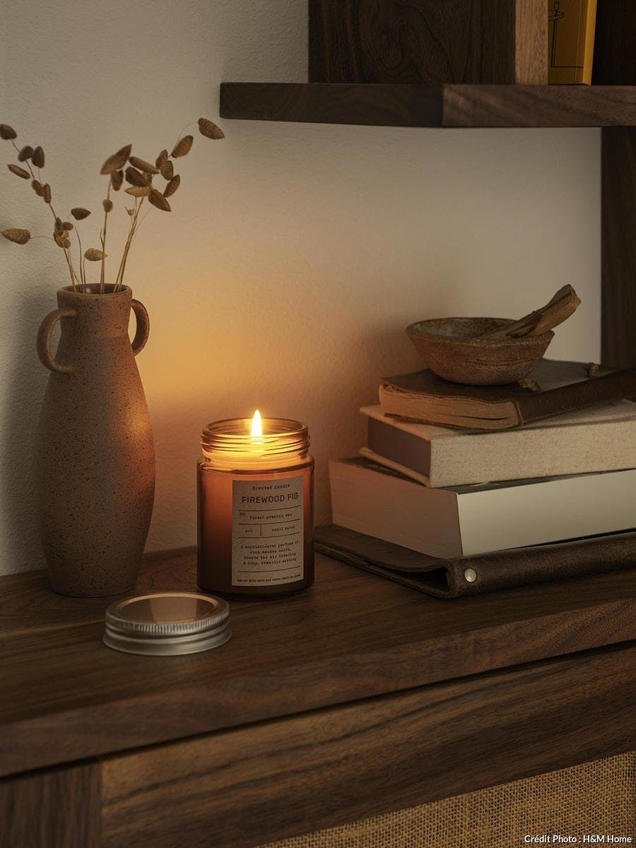 ambiance cocooning bougie