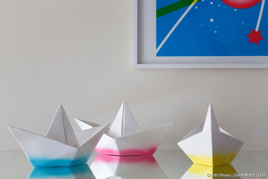 paper boat lamp good night light