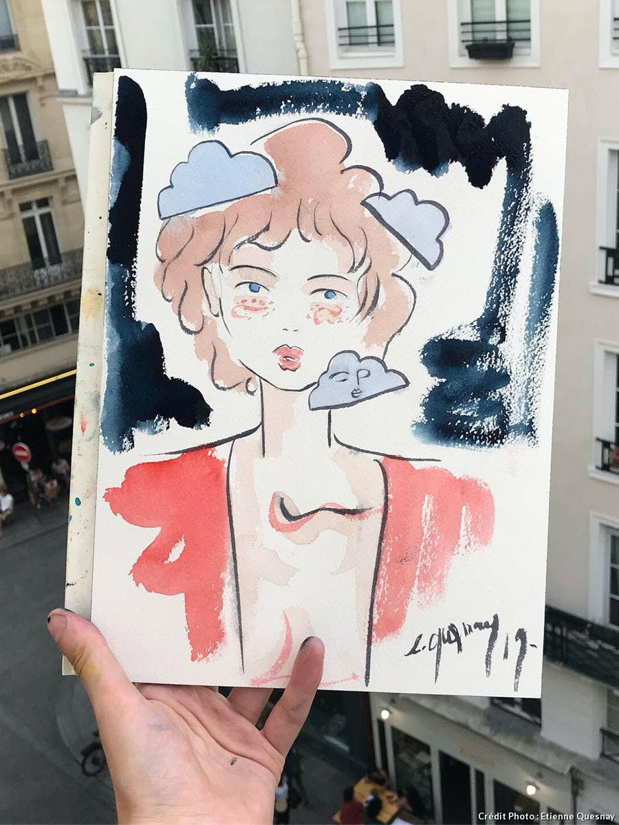 Illustration à l'aquarelle