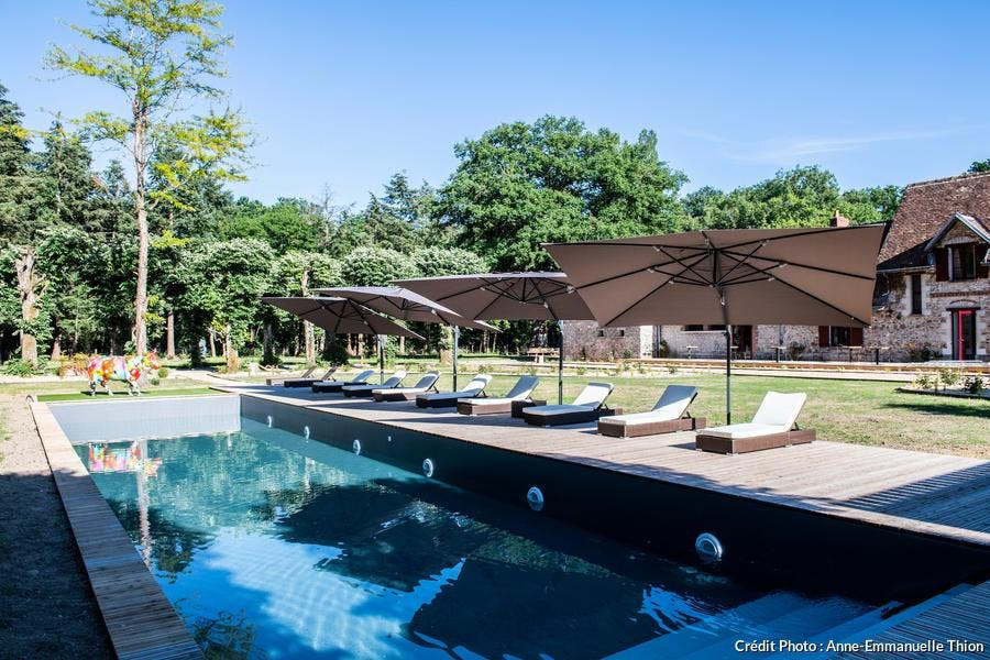 Piscine du Loire Valley Lodges