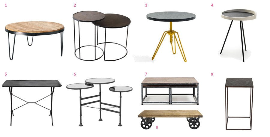 Tables basses industrielle