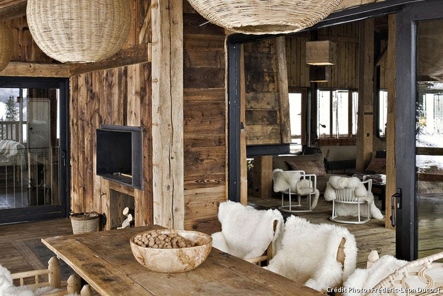7 id es de d co d int rieur pour chalet en bois maison. Black Bedroom Furniture Sets. Home Design Ideas
