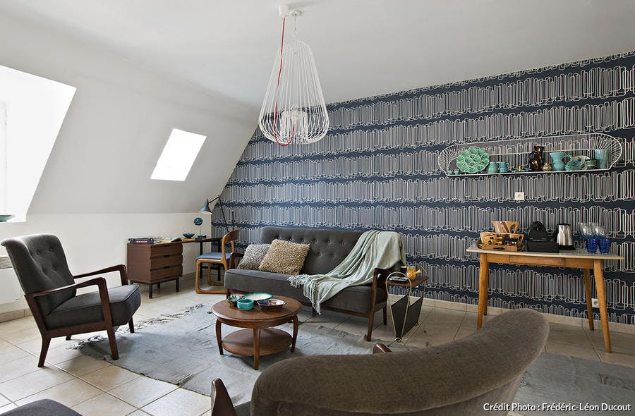 Un salon de l'appartement showroom dans l'Orne