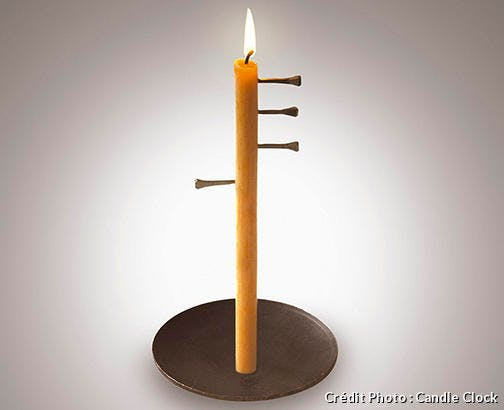 Bougie Candle Clock