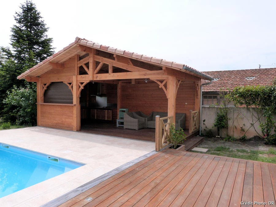 Pool house en bois