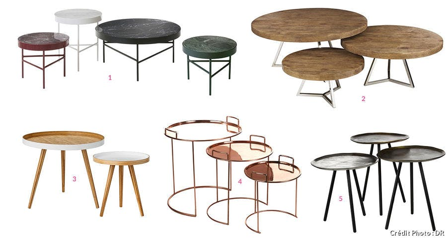 Tables basses gigognes rondes