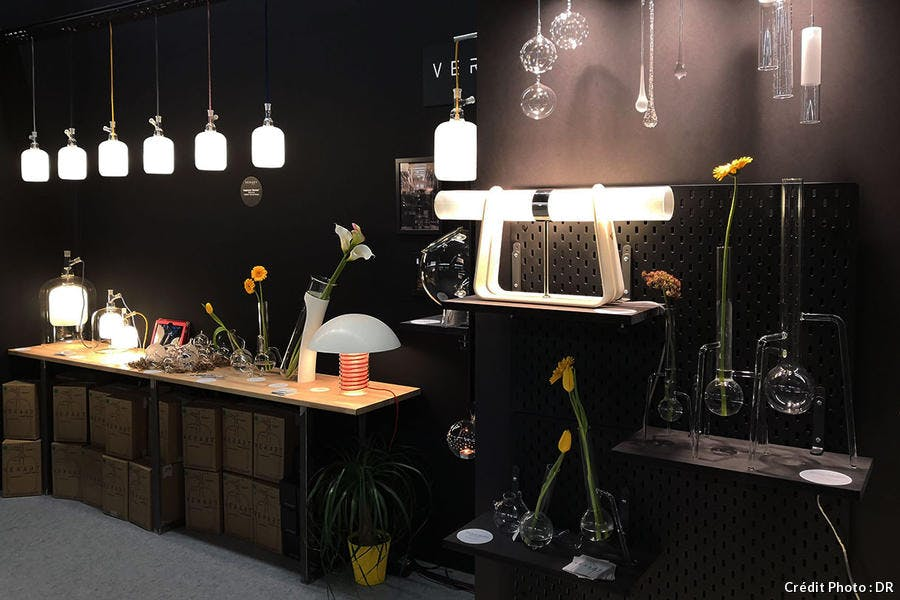 Ambiance design contemporain a la Paris design Fair