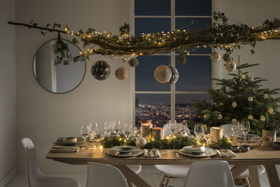 Deco table noel naturel