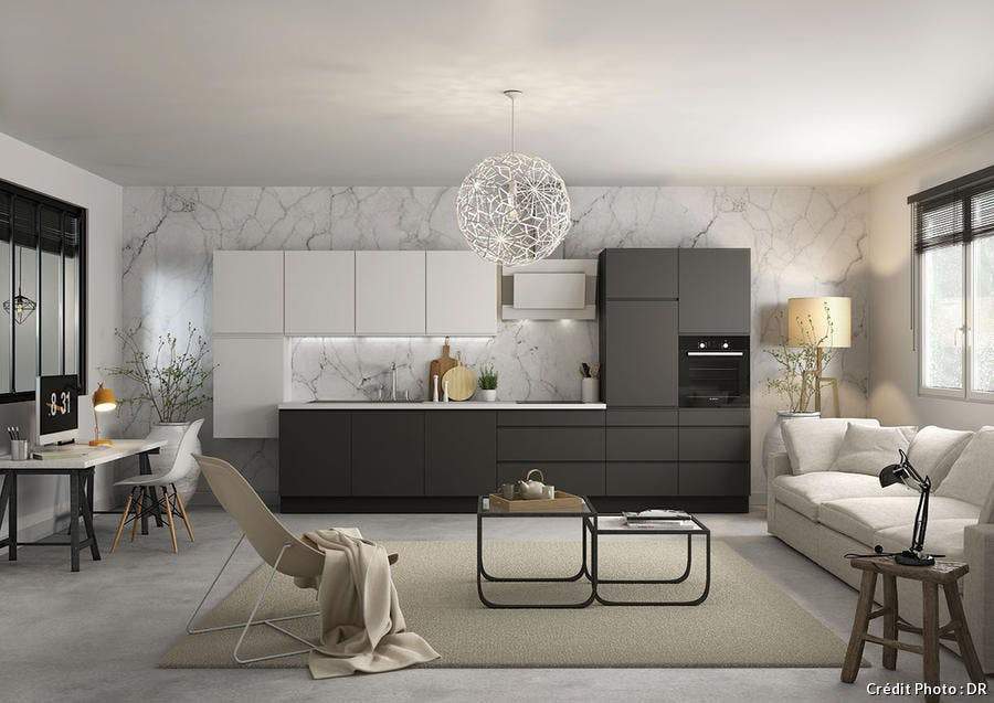 cuisine ouverte 20 id es inspirantes pour 2019 maison. Black Bedroom Furniture Sets. Home Design Ideas