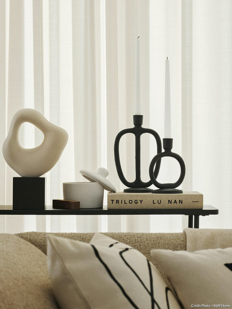 bougeoir design noir hm home