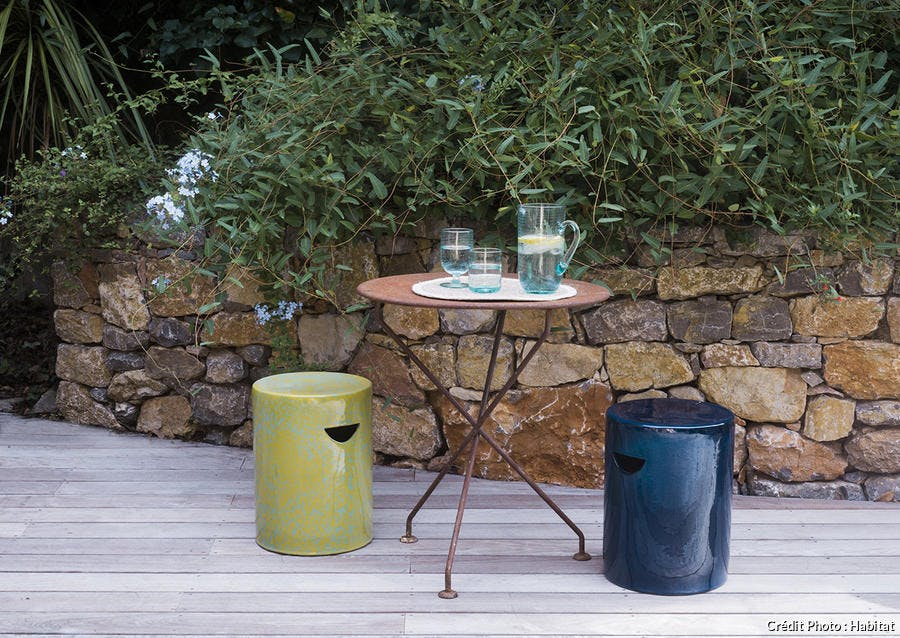 tabouret outdoor printemps/été 2020 Habitat